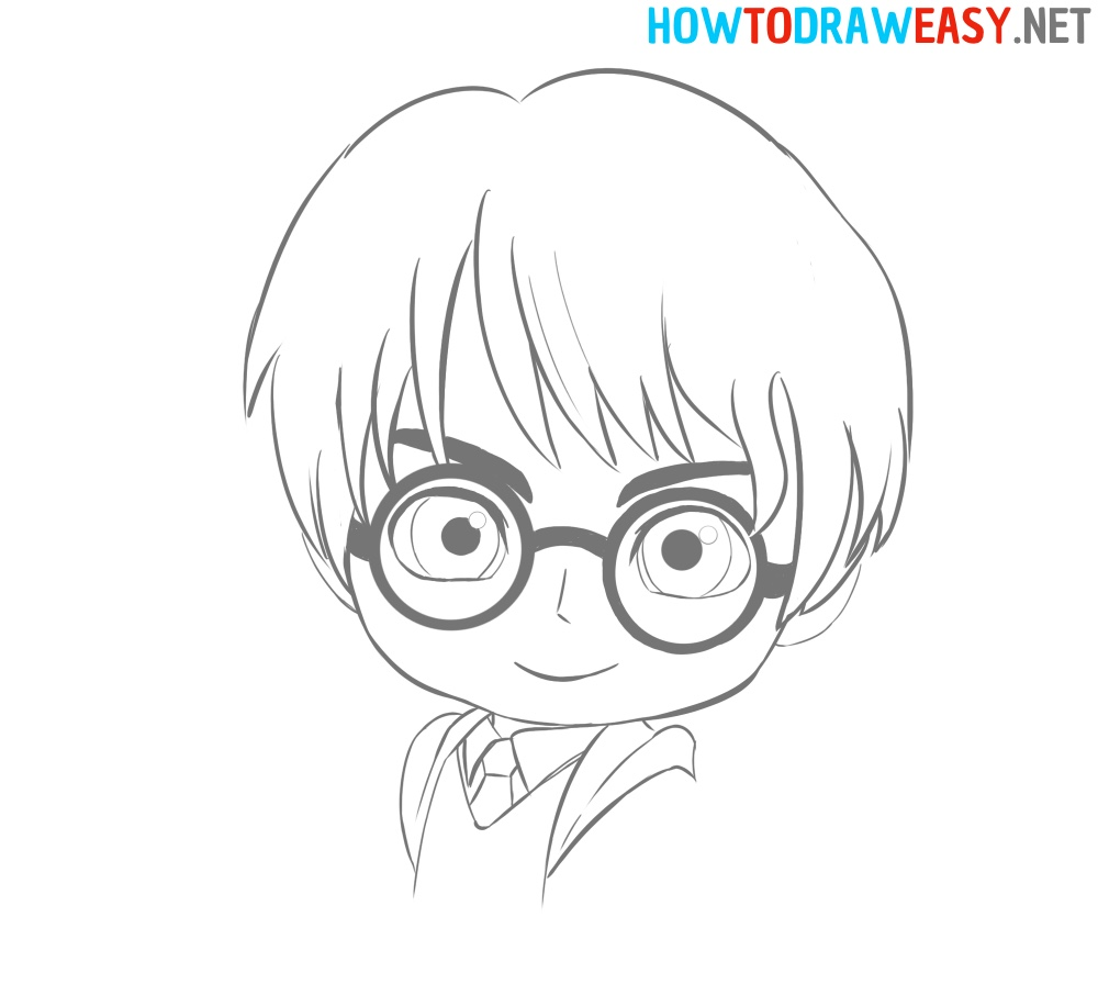 Anime Harry Potter Drawing Tutorial