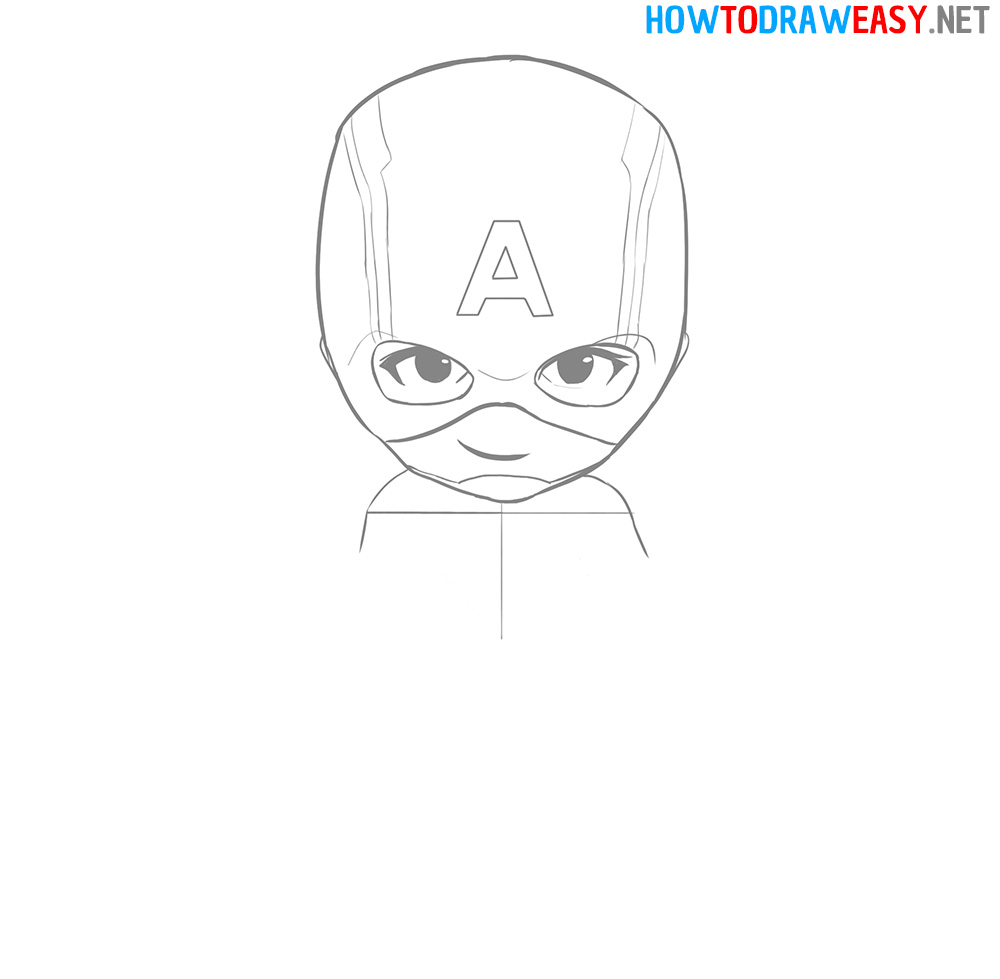 Captain America Face Drawing Tutorial