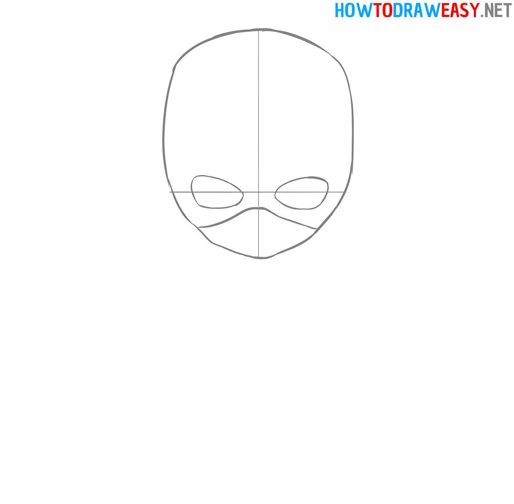 Captain America Mask Drawing Tutorial
