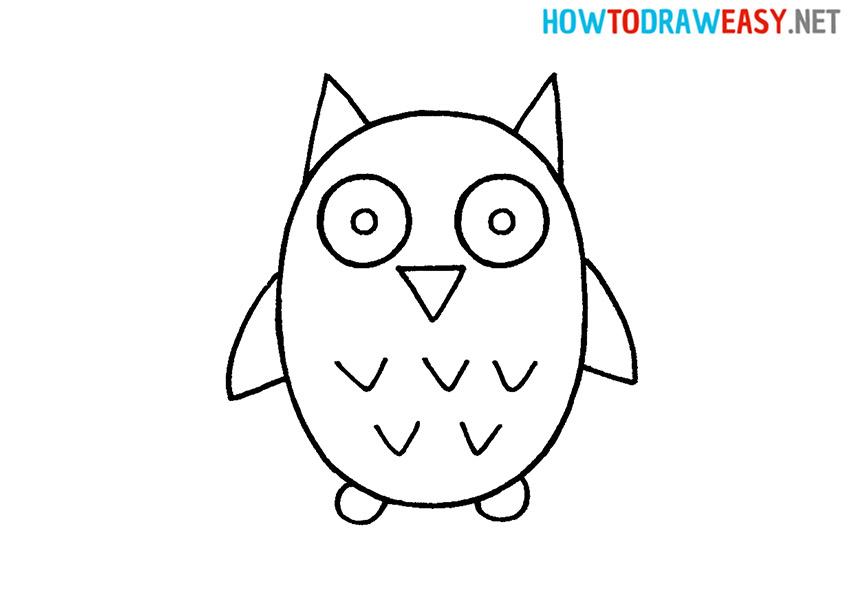 Cartoon Owl Drawing
