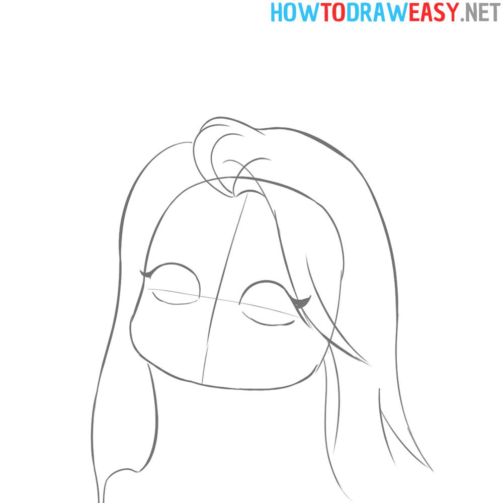 Chibi Girl Drawing