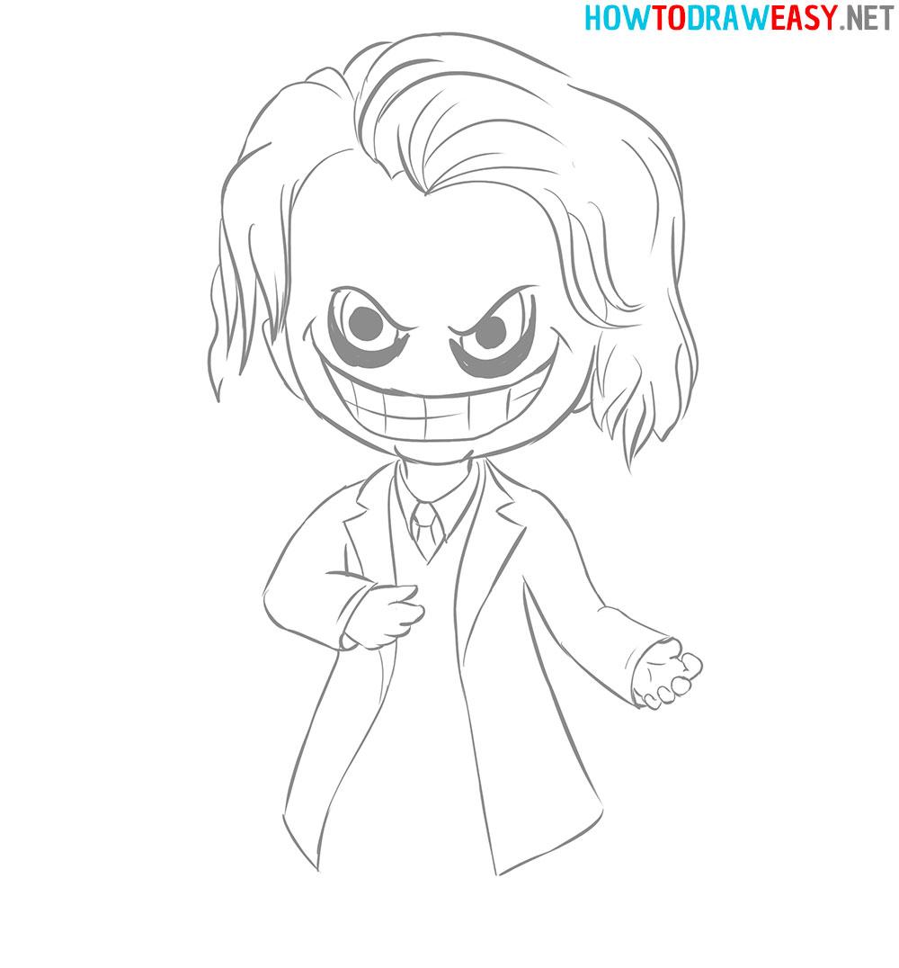 Chibi Joker Drawing Easy