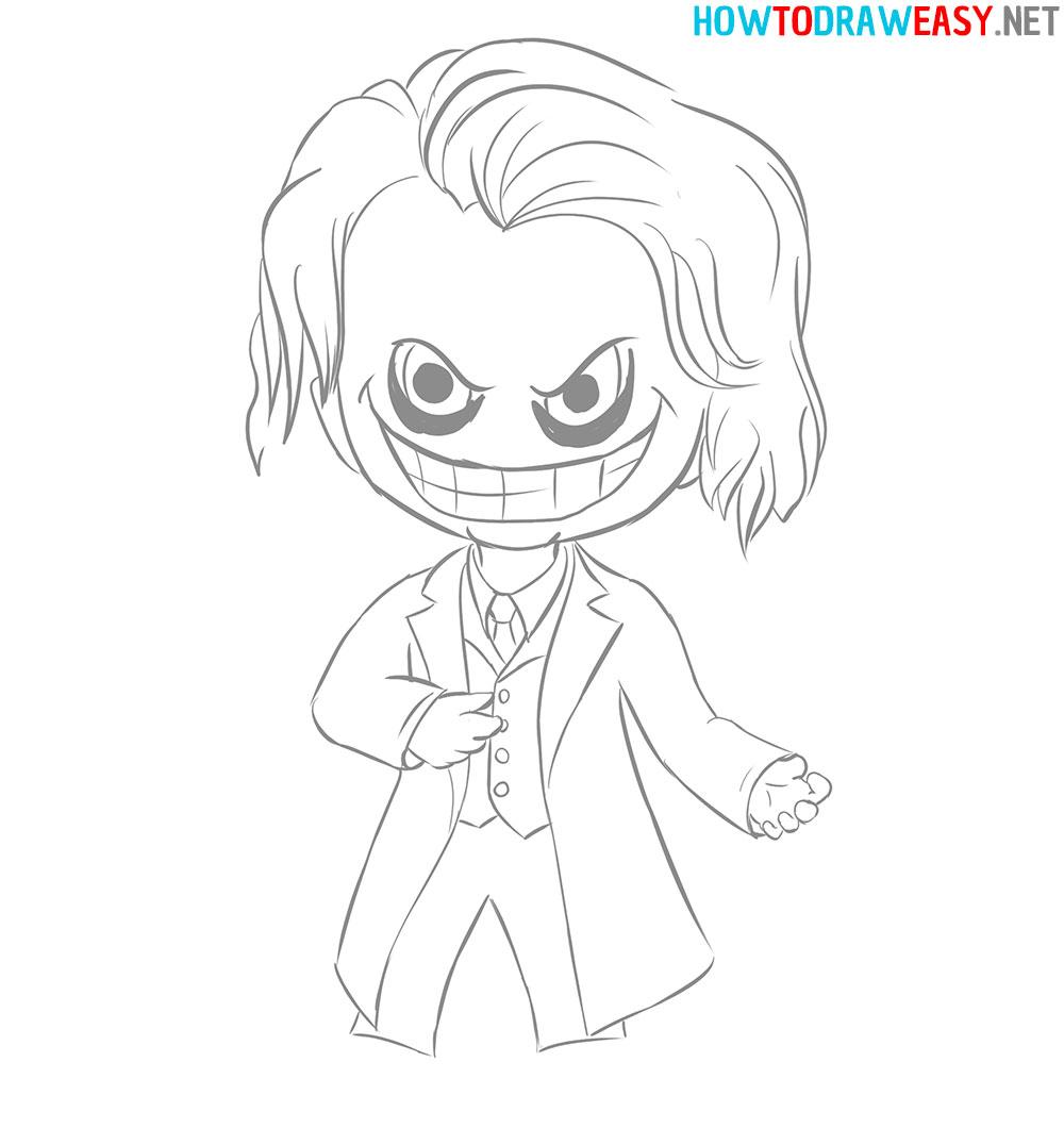 Chibi Joker Drawing Tutorial
