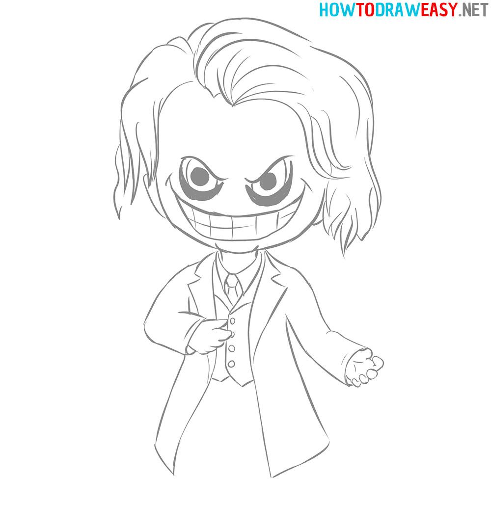Chibi Joker How to Draw