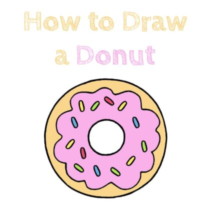 Donut How to Draw