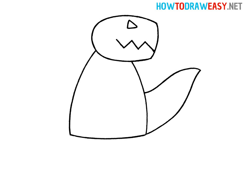Draw Godzilla for Kids