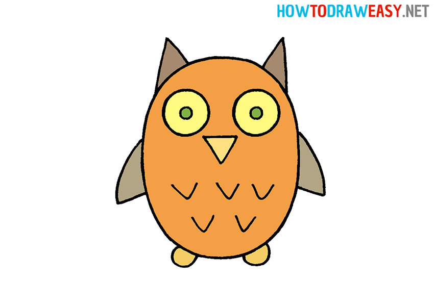Draw an Owl for Kids