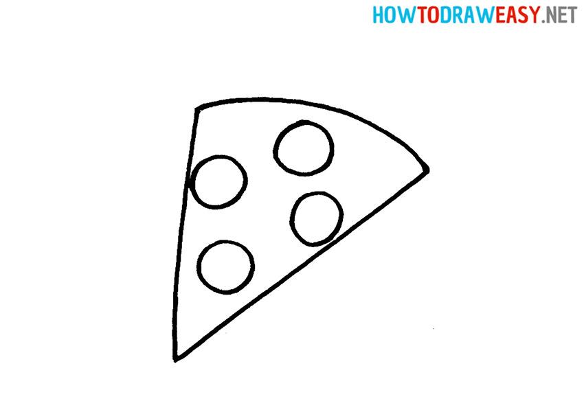 Drawing Cartoon Pizza