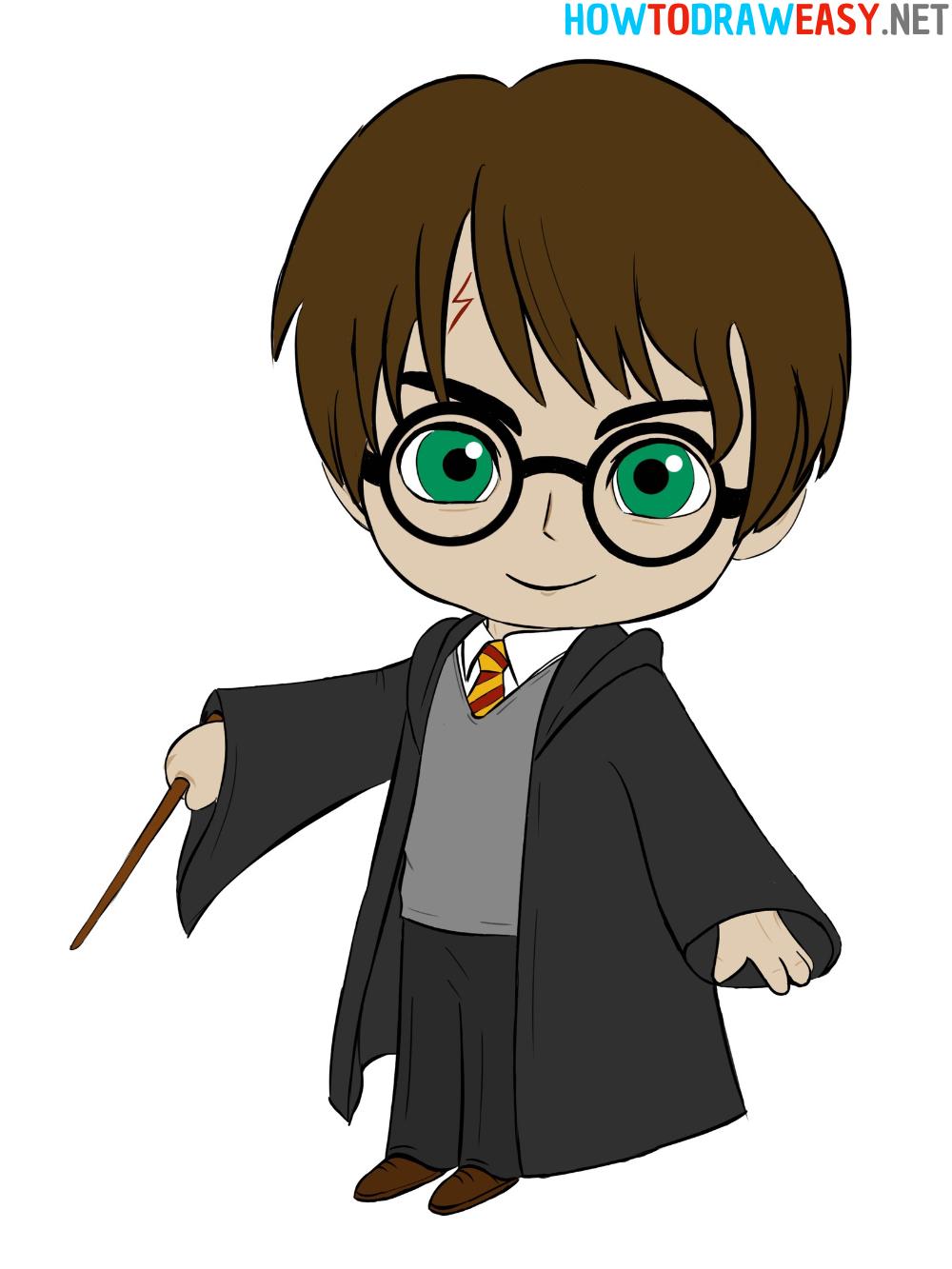 Drawing Chibi Harry Potter
