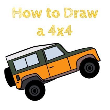 Drawing Easy 4x4 Car