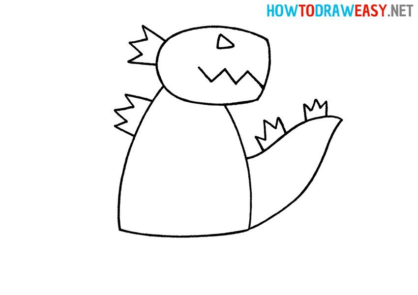 Drawing Godzilla for Kids