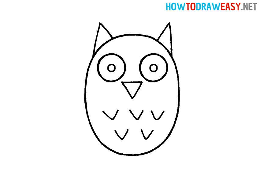 Drawing Owl Easy