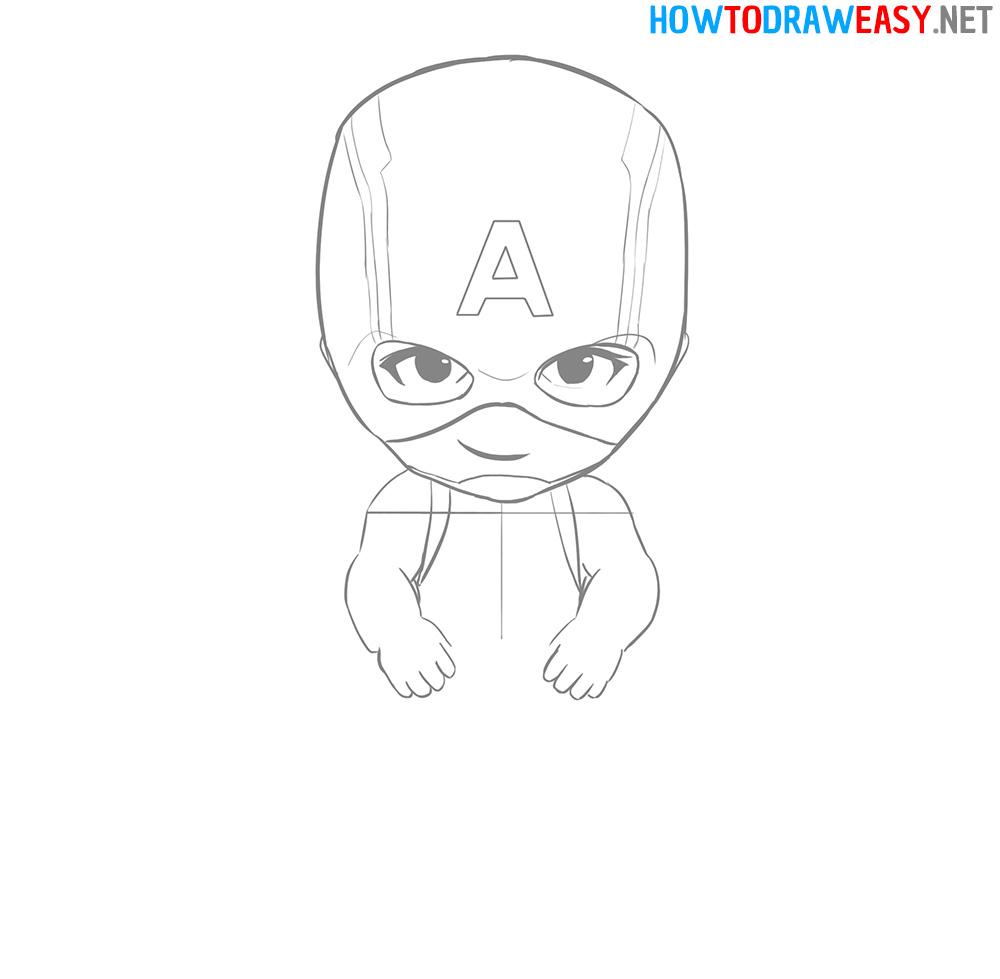 Drawing Tutorial Cartoon Captain America
