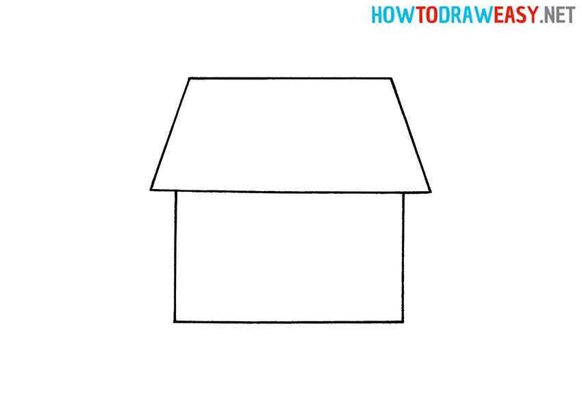 Drawing Tutorial a House for Kids