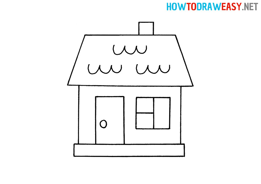 Drawing a House for Kids