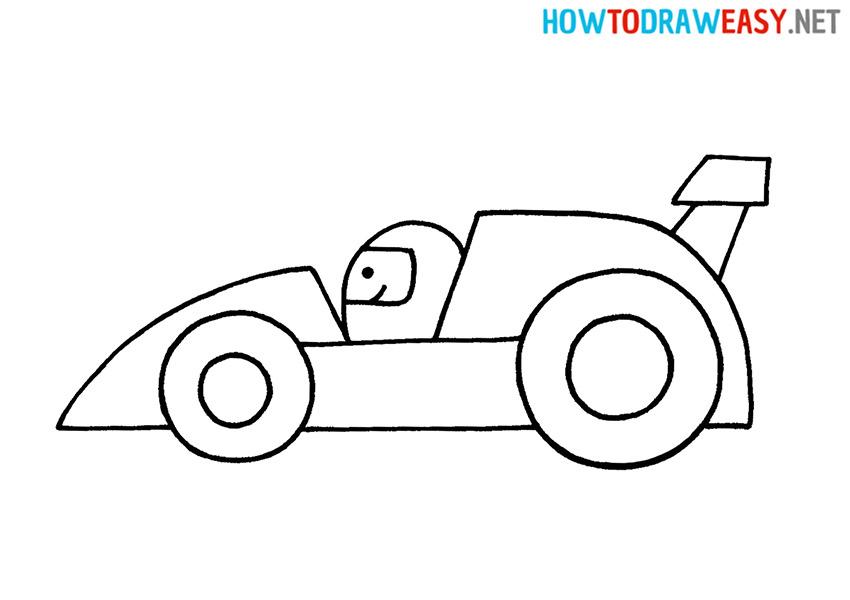 Drawing a Race Car