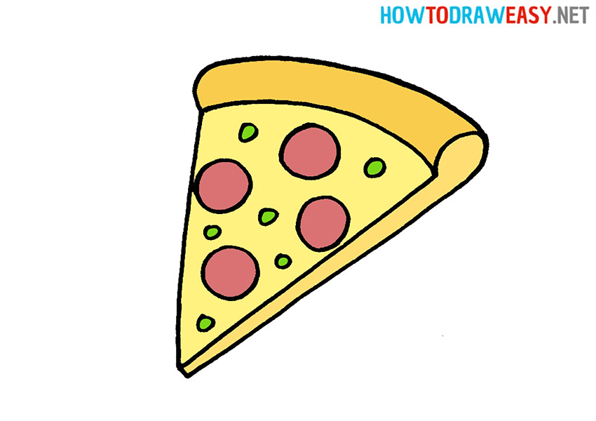 Drawing pizza easy