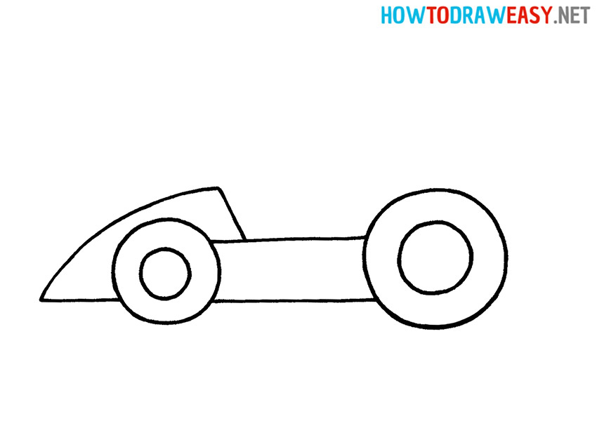 Easy Drawing a Race Car