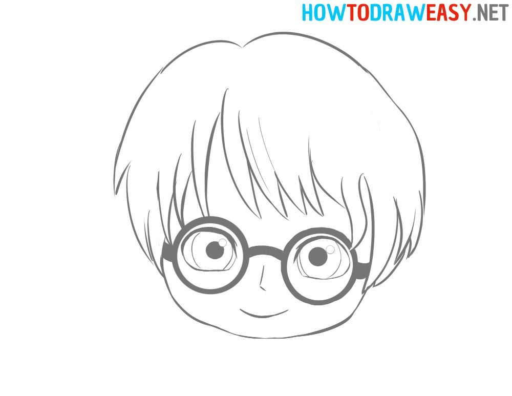 Harry Potter Cute Face Drawing