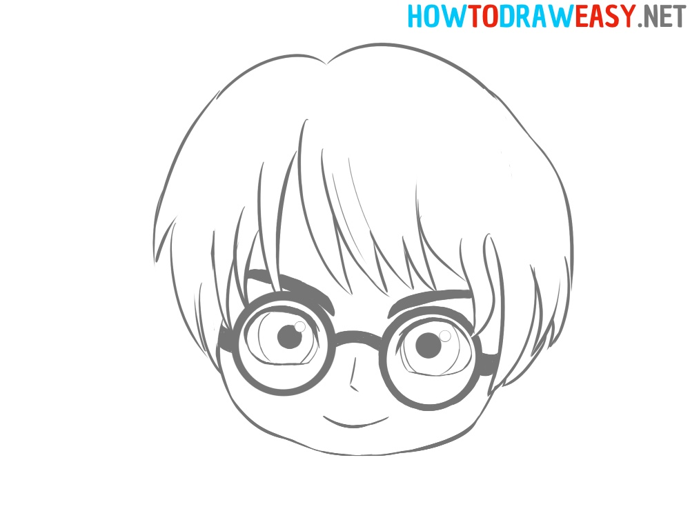 Harry Potter Face Drawing