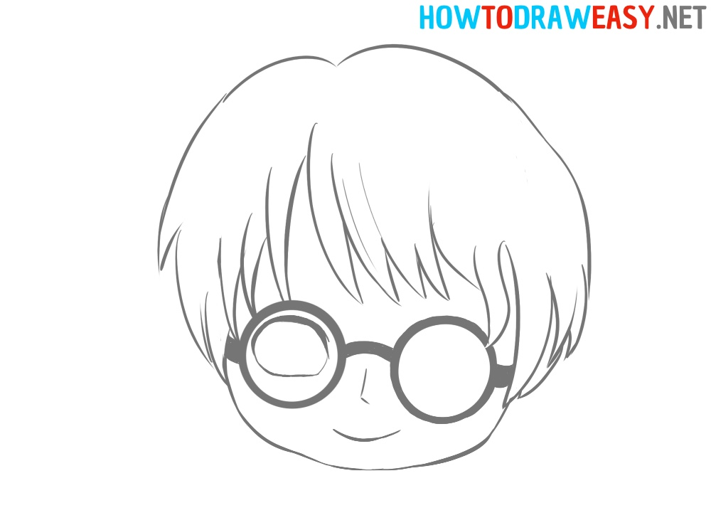 Harry Potter Head Drawing