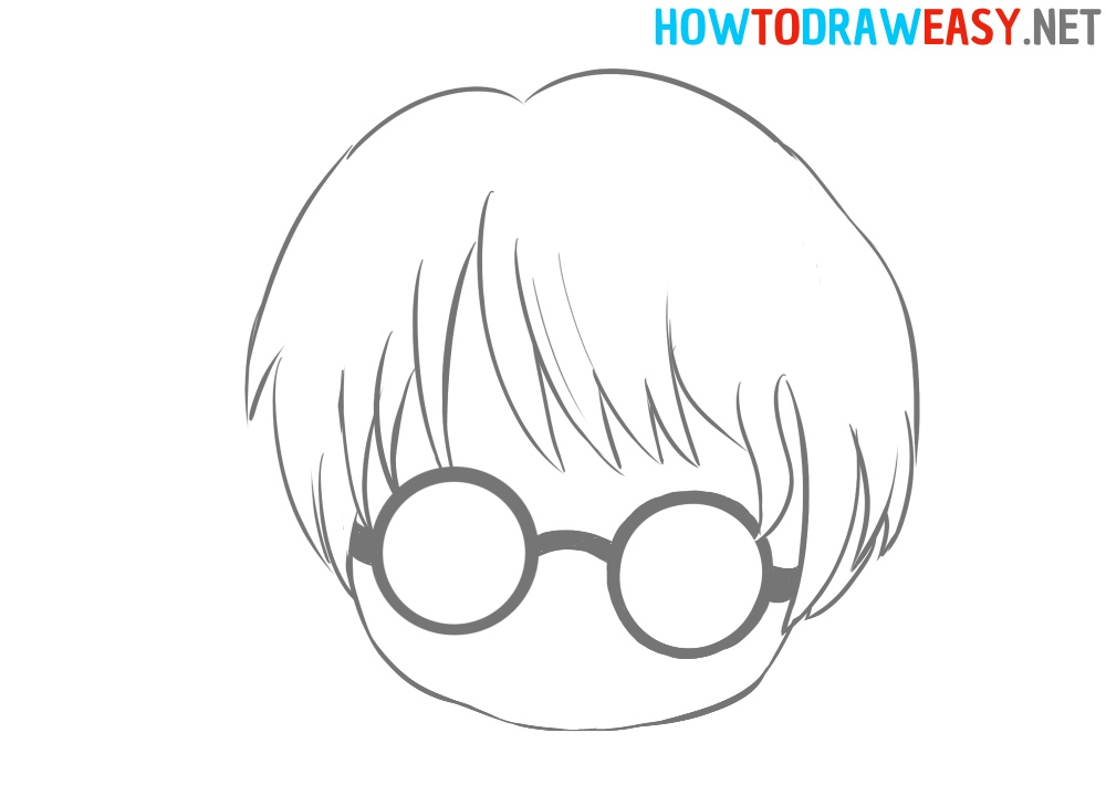 Harry Potter Head Drawing Easy