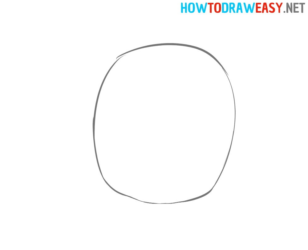 Head Contour Drawing Easy