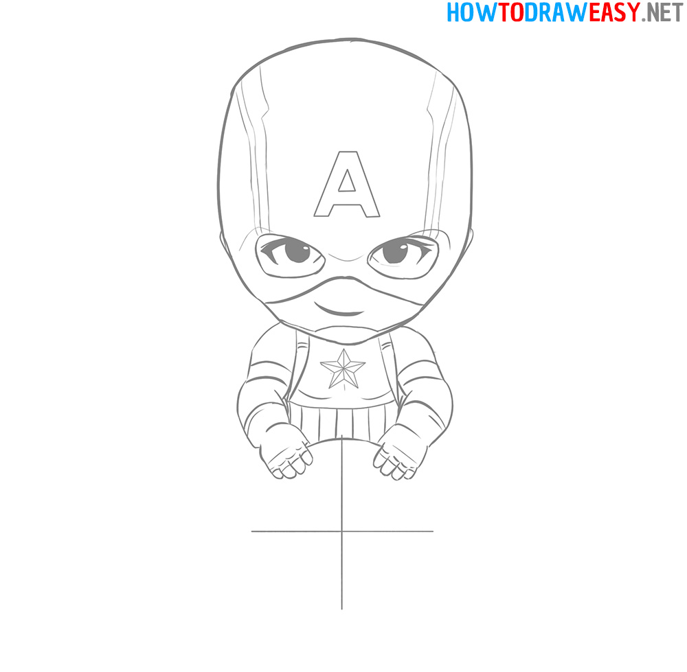How to Draw Captain America Shield Easy