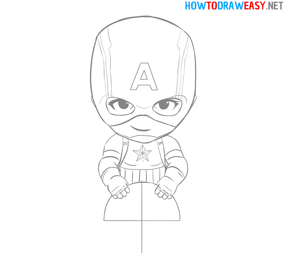 How to Draw Chibi Captain America Shield