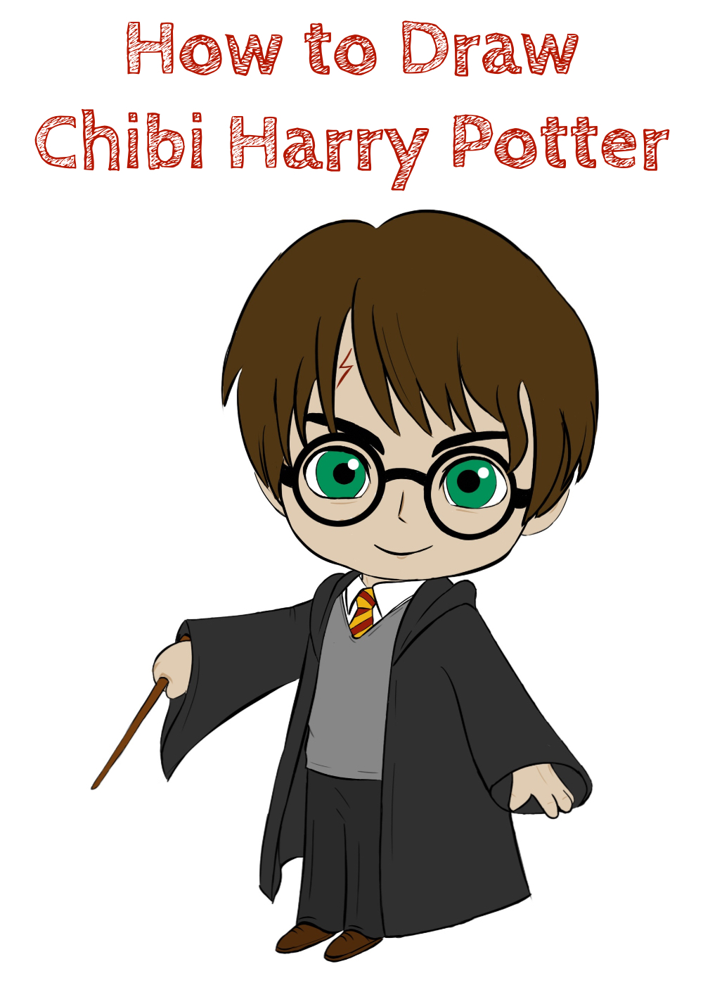 How to Draw Chibi Harry Potter Easy