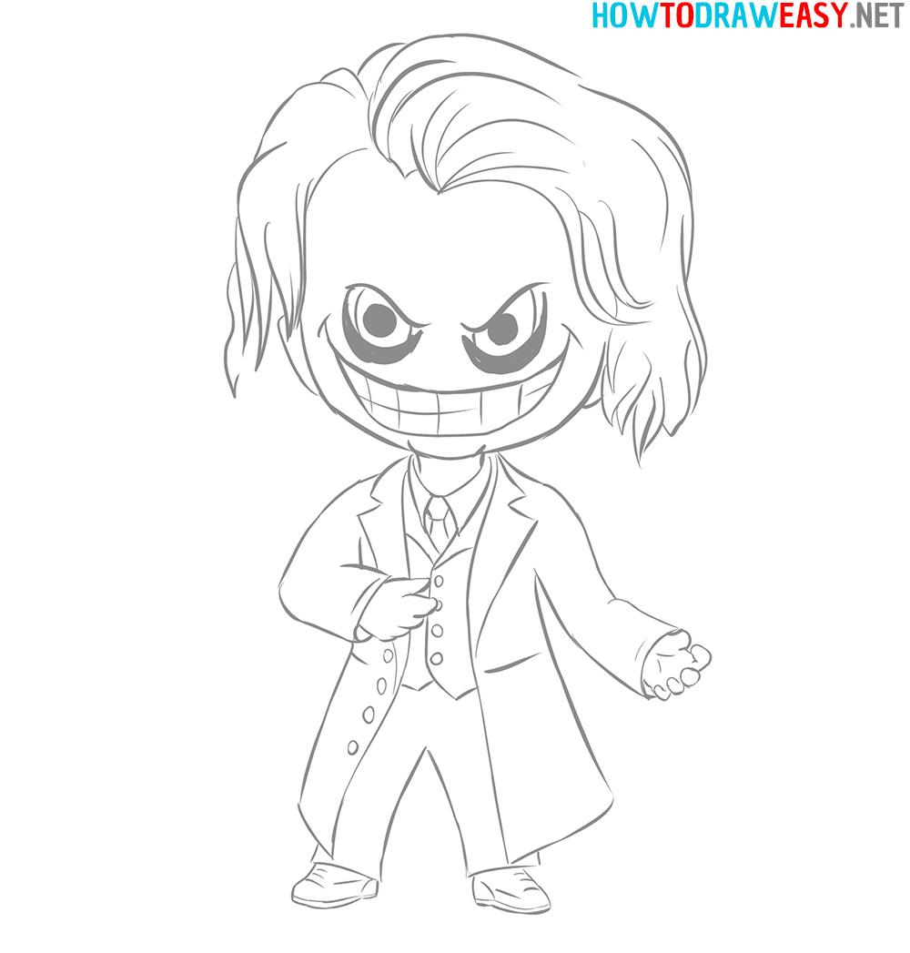 How to Draw Chibi Joker Easy