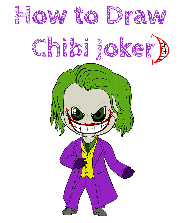 How to Draw Chibi Joker for Beginners