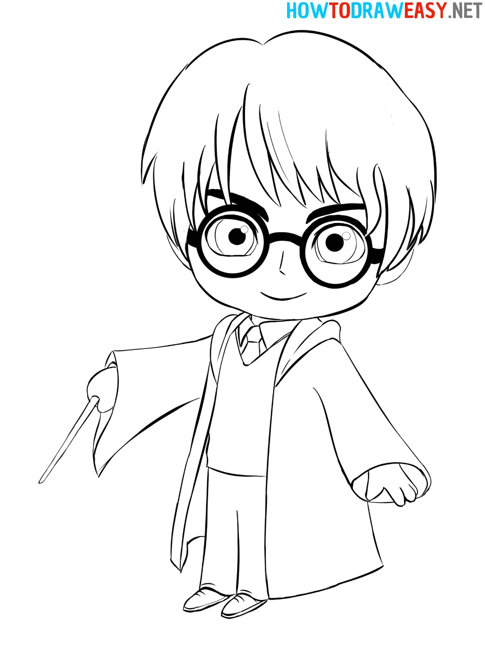 How to Draw Cute Harry Potter