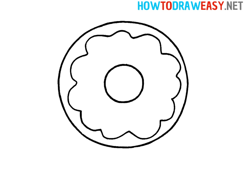 How to Draw Donut Easy