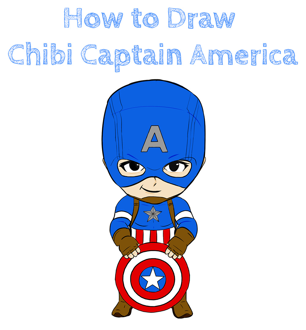 How to Draw Easy Chibi Captain America