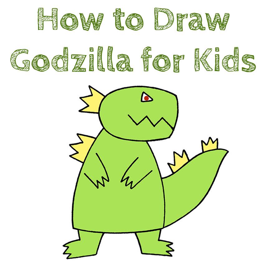 How to Draw Godzilla for Kids