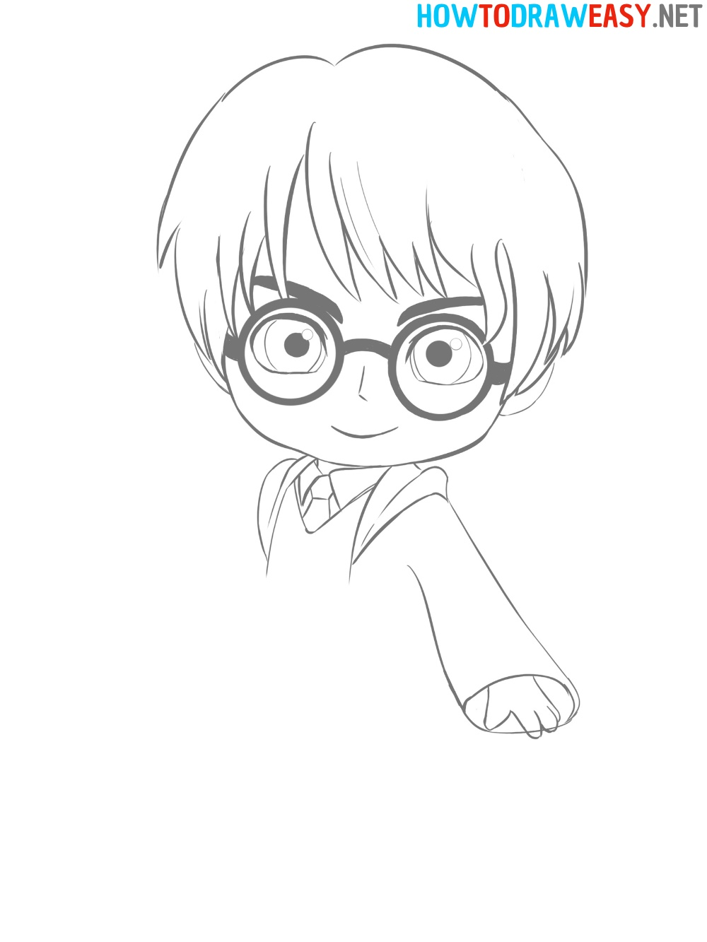 How to Draw Harry Potter Anime