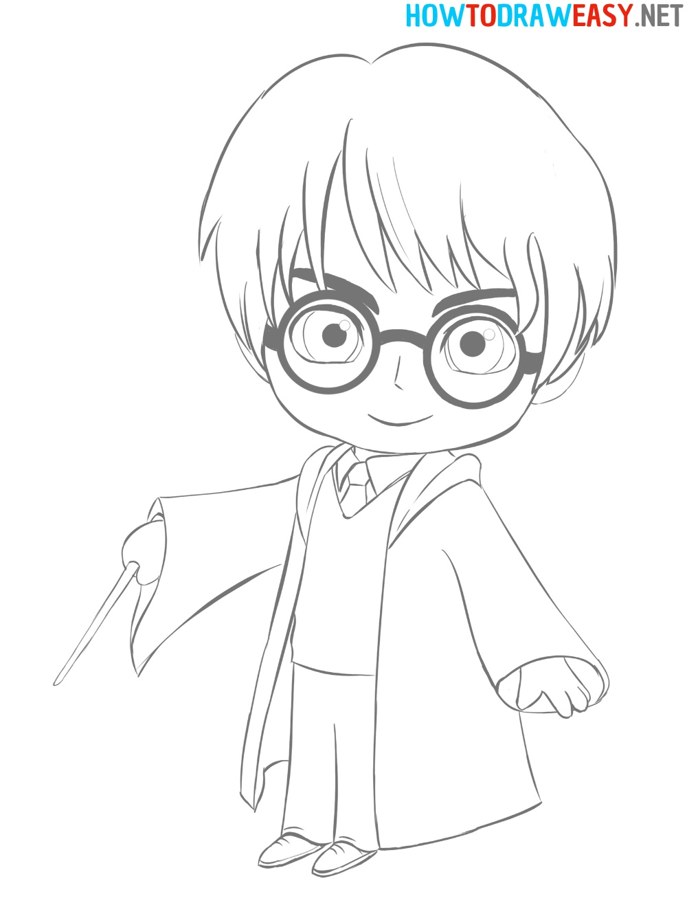How to Draw Harry Potter Character