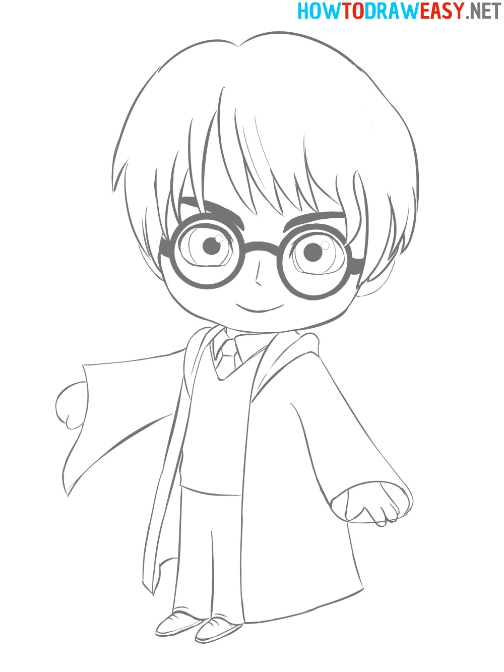 How to Draw Harry Potter Easy