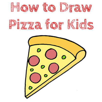 How to Draw Pizza for Children