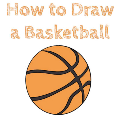 How to Draw a Baskteball