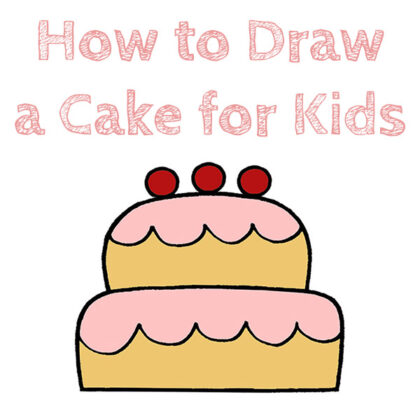 How to Draw a Cake for Kids Easy