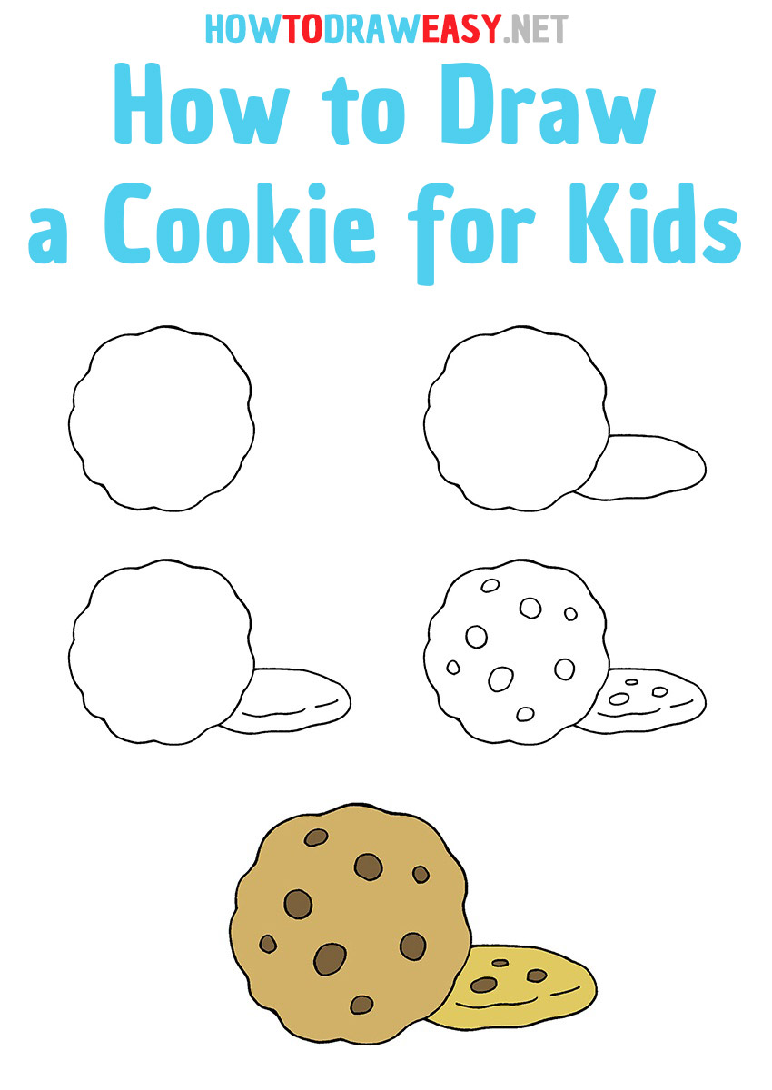 How to Draw a Cookie for Kids Step by Step