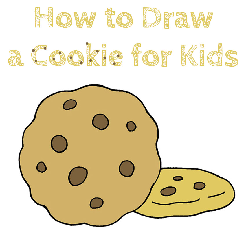How to Draw a Cookie for Kids