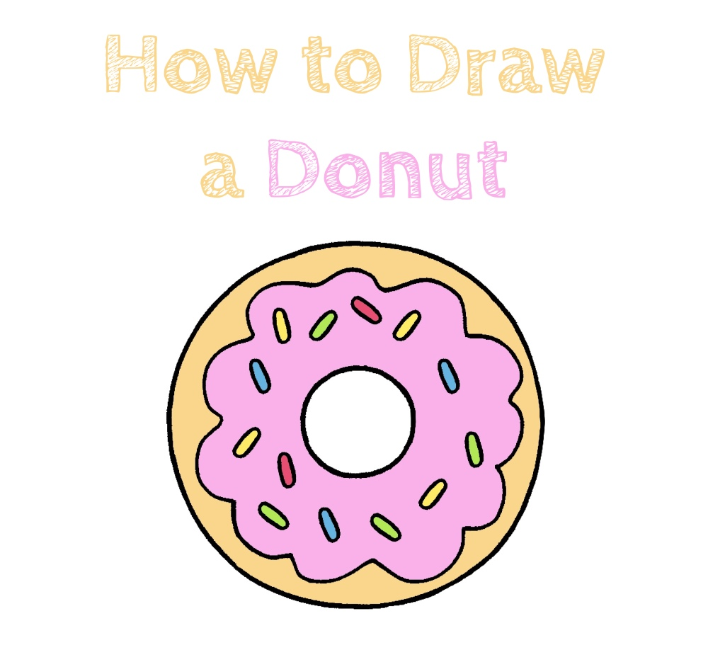 How to Draw a Cute Donut