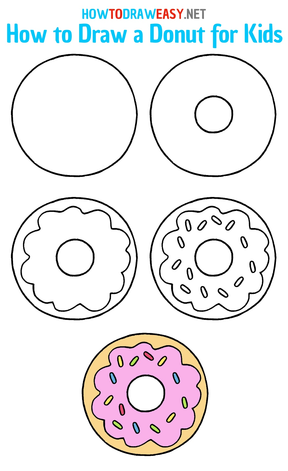 How to Draw a Donut Step by Step