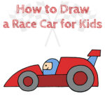 How to Draw a Race Car for Kids