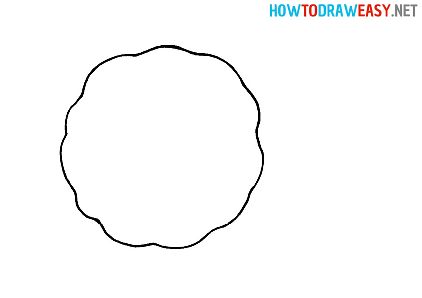 How to Draw a Simple Cookie for Kids