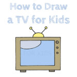 How to Draw a TV for Kids