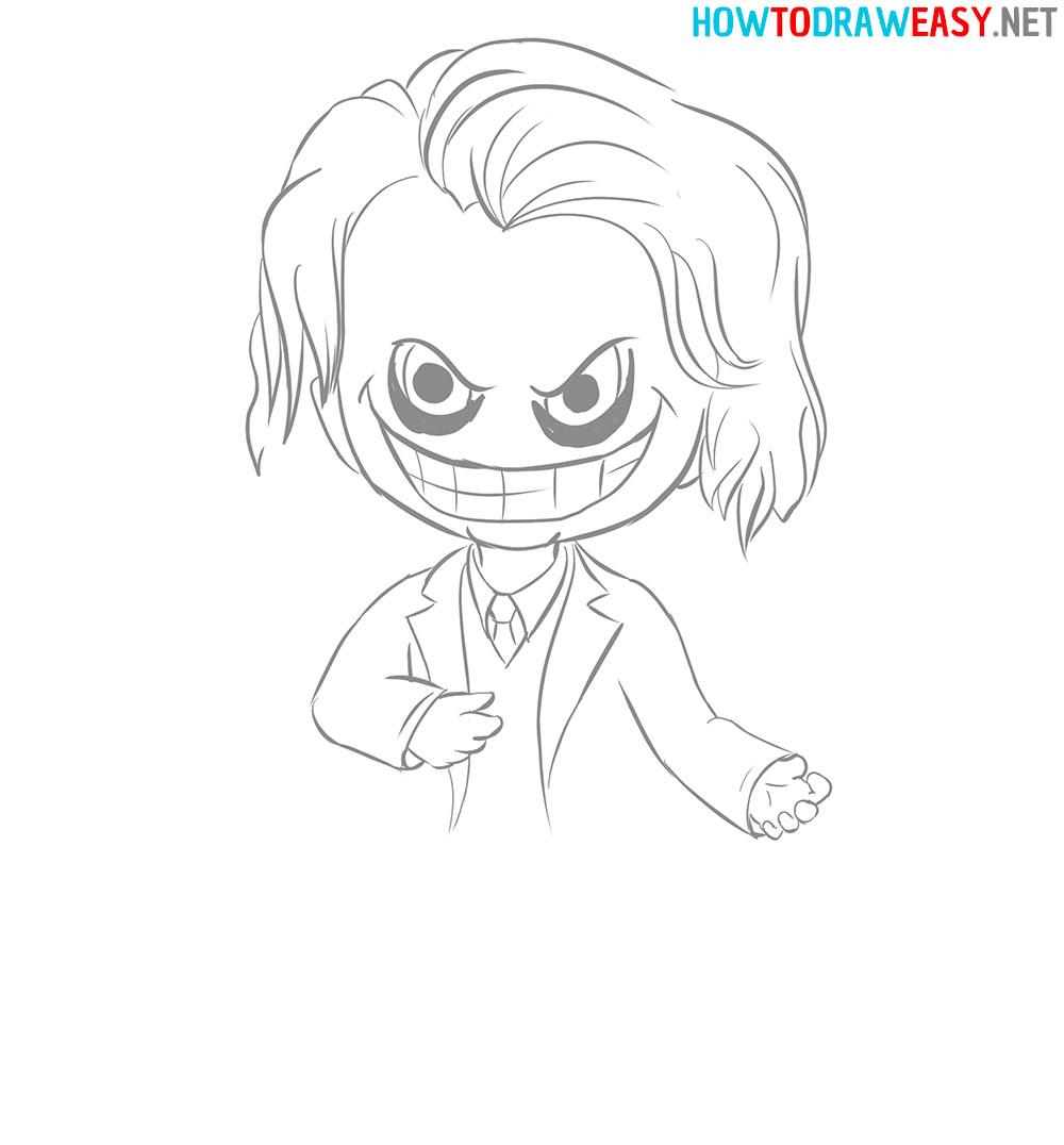 How to Draw the Joker Chibi